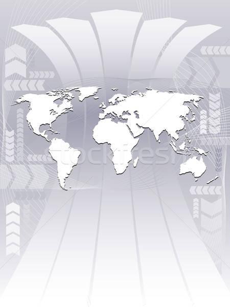 Działalności mapie świata streszczenie ilustracja Pokaż centralny Zdjęcia stock © Aiel