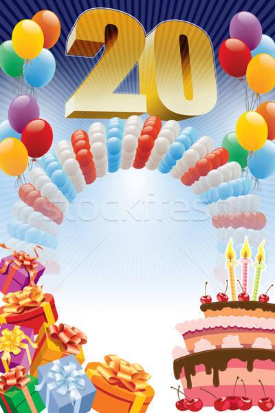Poster for twentieth birthday  Stock photo © Aiel
