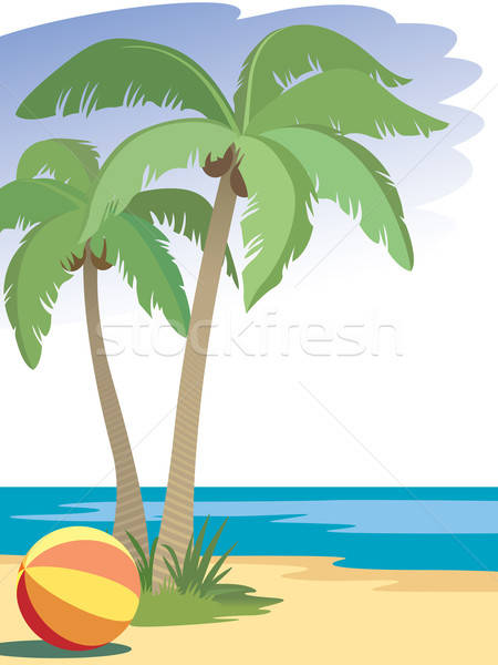 Palm trees Stock photo © Aiel