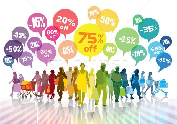 Stok fotoğraf: Renkli · alışveriş · kalabalık · satış · insanlar