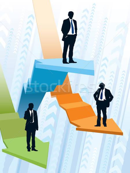 вверх вниз бизнесменов верховая езда большой Сток-фото © Aiel