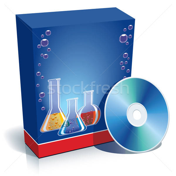 Box with laboratory glasses and CD Stock photo © Aiel