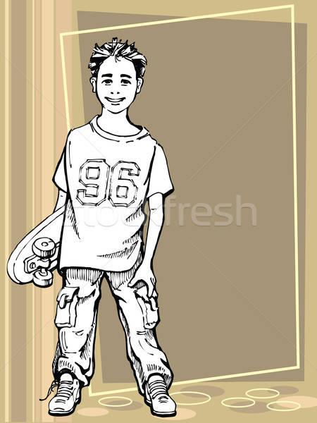 Stock photo: Skating boy