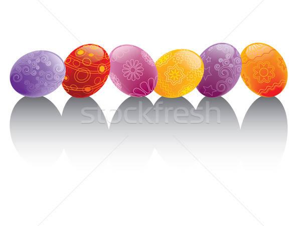 Foto stock: Pascua · pintado · huevos · arte · diversión