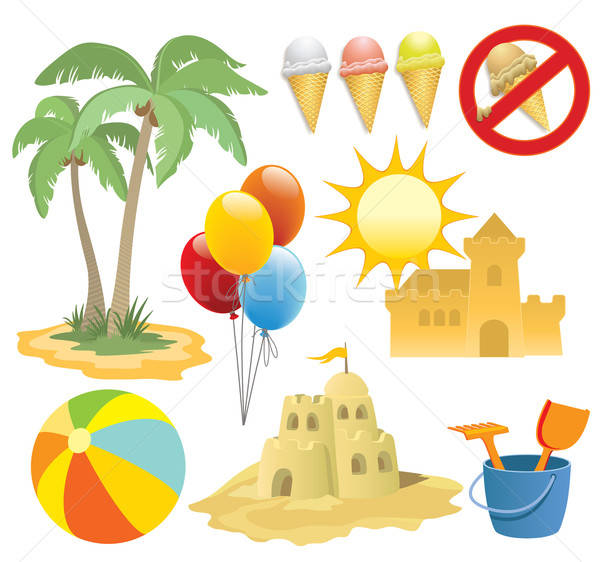 Summer vacation, design elements Stock photo © Aiel