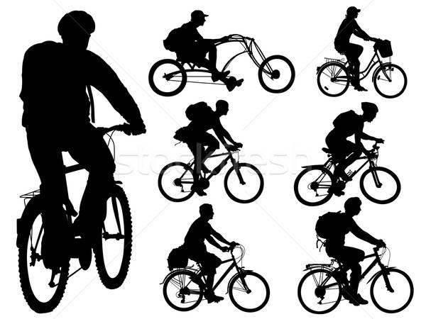 Stock fotó: Biciklizik · emberek · gyűjtemény · formák · sport · hegy
