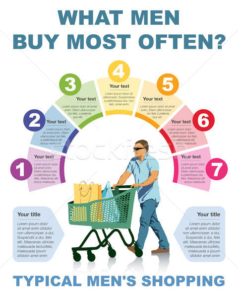 Infographic about shopping Stock photo © Aiel