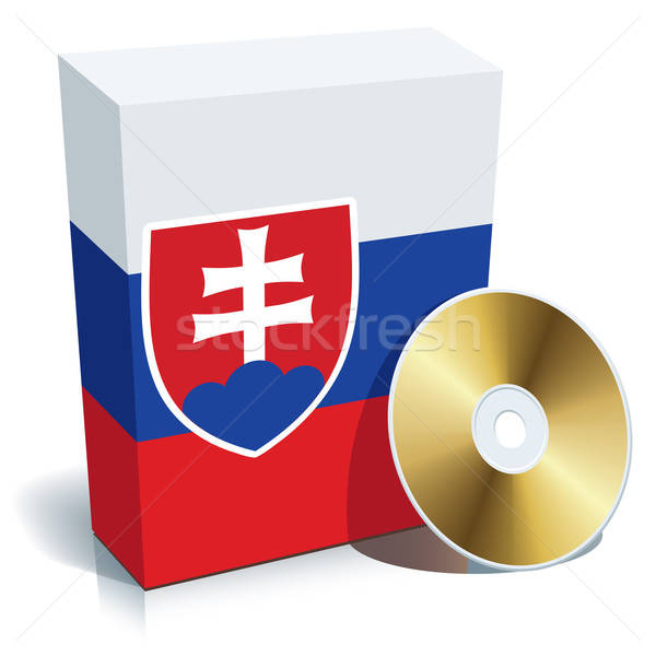 Stock photo: Slovak software box and CD