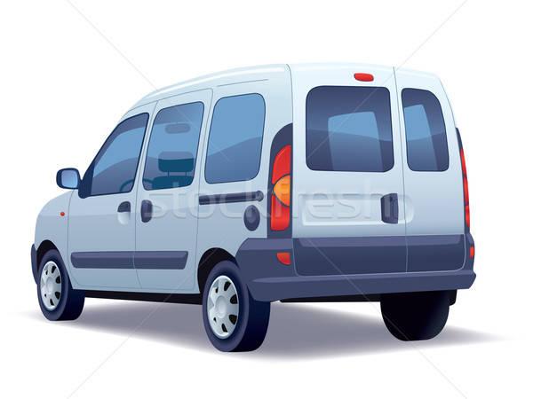 Stockfoto: Commerciële · voertuig · witte · business · familie
