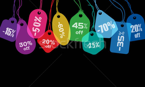 Colorful price tags Stock photo © Aiel