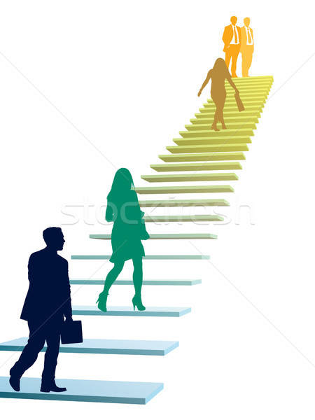 Businesspeople in a hurry. Stock photo © Aiel
