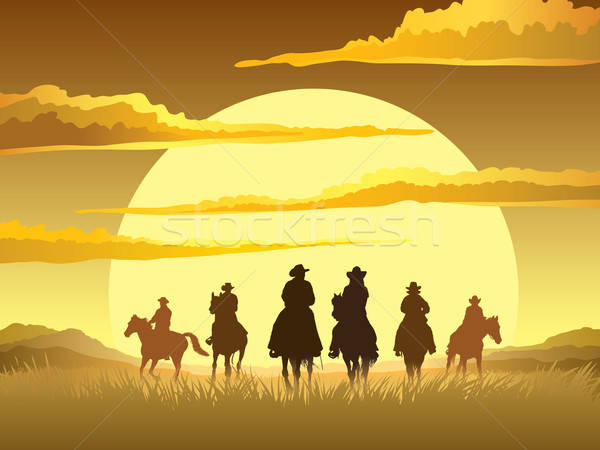 Stock photo: Horse riders