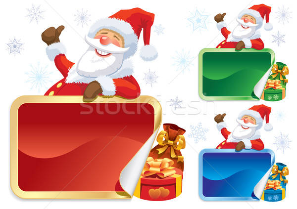 Santa Claus advertising Stock photo © Aiel
