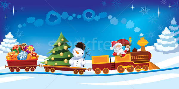 Stock photo: Christmas train