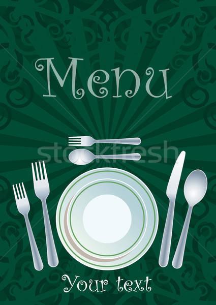 Restaurant menu design Stock photo © Aiel