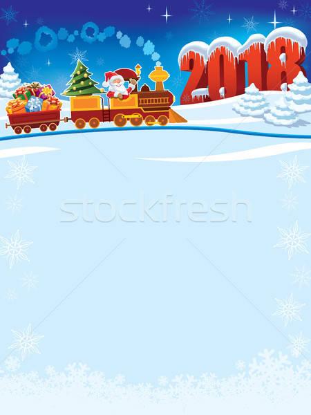 Christmas train to 2018 Stock photo © Aiel