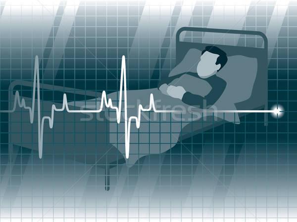 Reddingslijn elektrocardiogram patiënt arts medische dood Stockfoto © Aiel