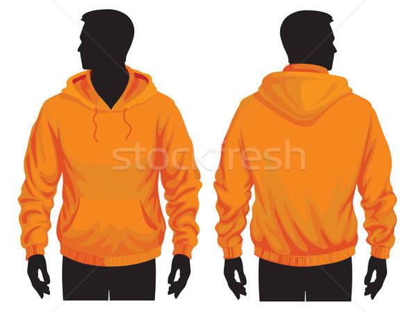 Sweatshirt Vorlage Männer Textur Design Hintergrund Stock foto © Aiel