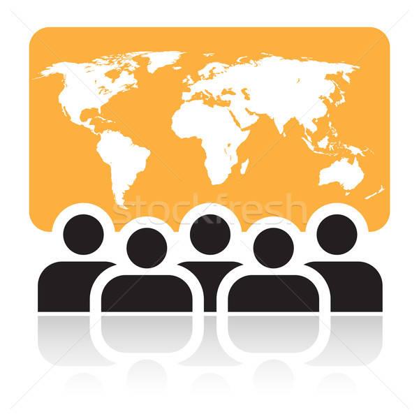 Global meeting sign Stock photo © Aiel