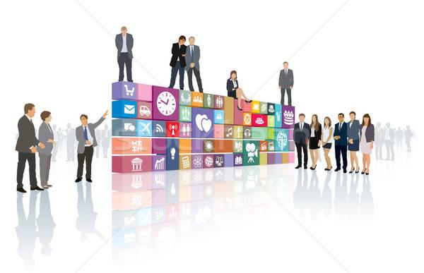 развития группа людей сейчас веб страница программное Сток-фото © Aiel