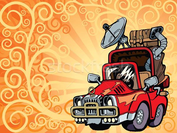 Сток-фото: путешественник · автомобилей · готовый · Летние · каникулы · природы · красный