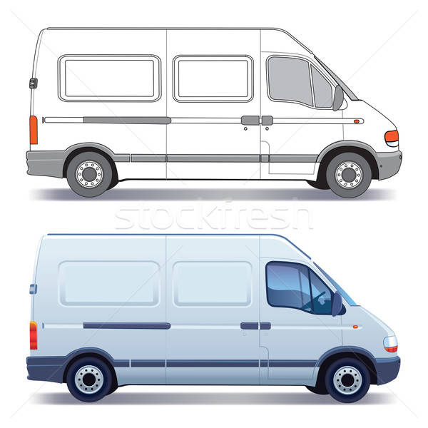 Delivery van vector illustration © Bogusław Mazur (Aiel ...