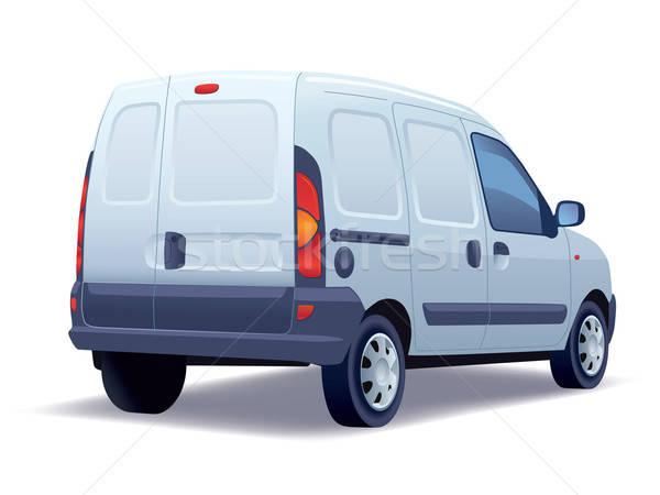 Foto stock: Blanco · comerciales · vehículo · negocios · carretera