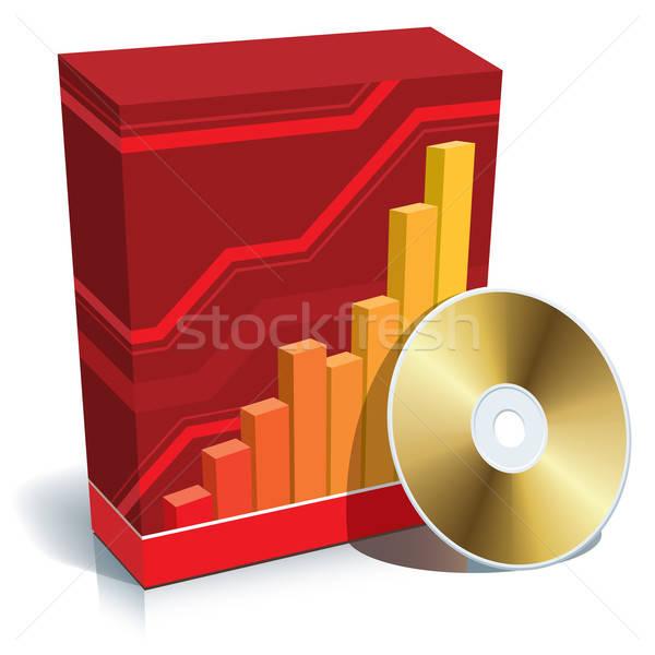 Stockfoto: Software · vak · cd · Rood · 3D · grafiek