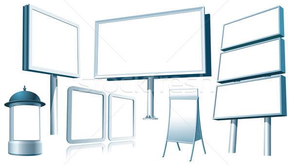 în aer liber reclamă set proiect artă cutie Imagine de stoc © Aiel