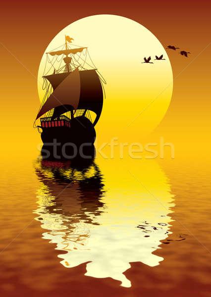 Sunset sailing Stock photo © Aiel