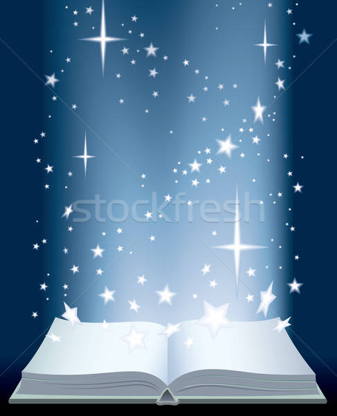Book and shining stars Stock photo © Aiel