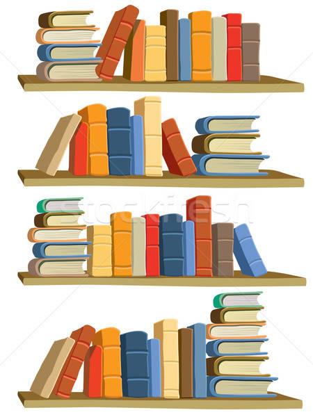 Boeken collectie kleurrijk witte papier boek Stockfoto © Aiel