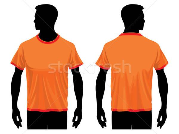 Tshirt modèle hommes texture design fond Photo stock © Aiel