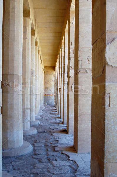 Születés templom királynő Luxor Egyiptom felirat Stock fotó © Aikon
