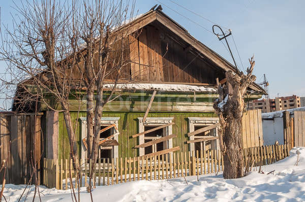 Abandoned old house in Tyumen. Russia Stock photo © Aikon