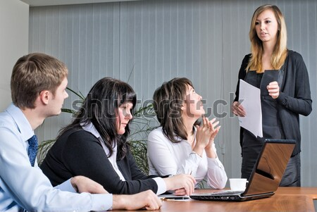 женщину бизнеса презентация молодые деловая женщина Сток-фото © Aikon