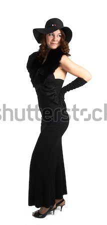 Young attractive woman in black Stock photo © Aikon