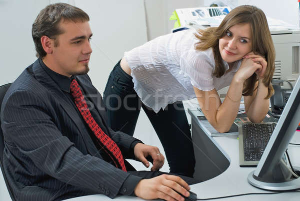 Business people Having Meeting In Modern Office Stock photo © Aikon