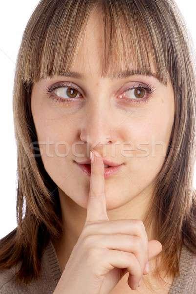 Mujer silencio gesto Foto stock © Aikon