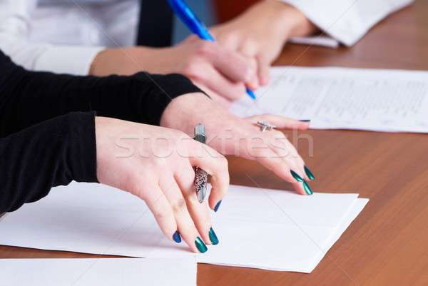 Handwriting girls Stock photo © Aikon