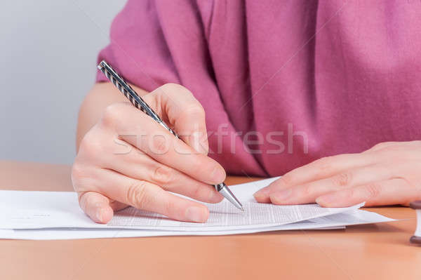 business analyst woman working Stock photo © Aikon
