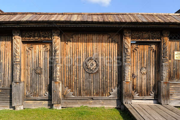 wooden door with iron handles Stock photo © Aikon