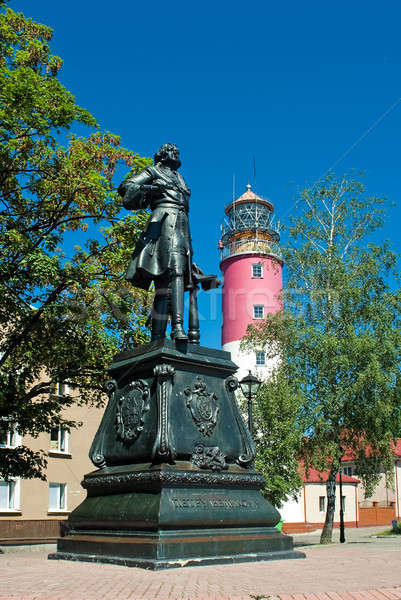 monument of Peter I in Baltiysk, Russia Stock photo © Aikon
