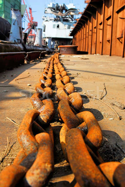 Barge and chains Stock photo © Aikon