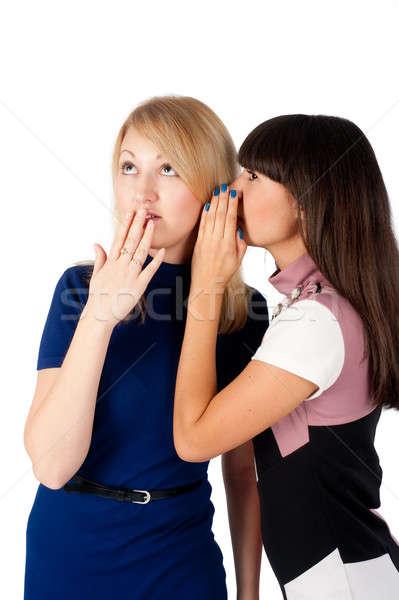 Twee vrienden aantrekkelijk jonge vrouwen een Stockfoto © Aikon
