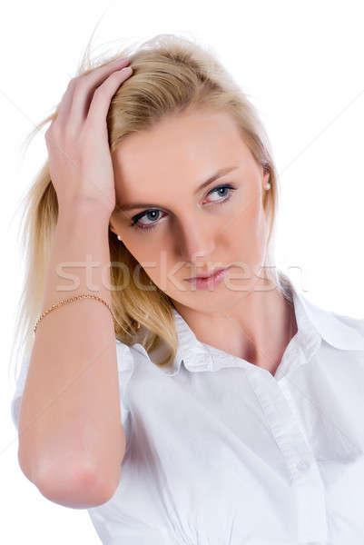 Sadness girl Stock photo © Aikon