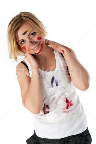 Москвы девушкам испачкали лицо фото