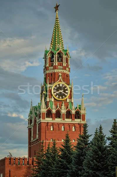 Stock photo: Kremlin. Spasskaya tower. Moscow. Russia