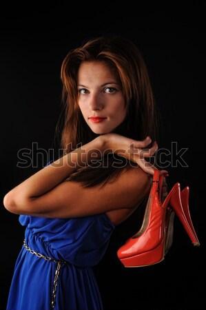 Pecas atractivo fresco mujer Foto stock © Aikon