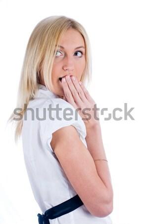 Surprised attractive girl Stock photo © Aikon